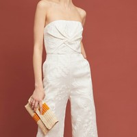 Natalie Embroidered Wide-Leg Jumpsuit