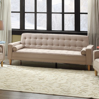 Wade Logan Derek Twill Sleeper Sofa & Reviews | Wayfair