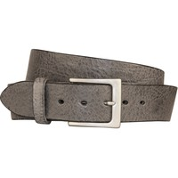 Lato Curved Handmade Leather Belt - Gun Smoke Grey