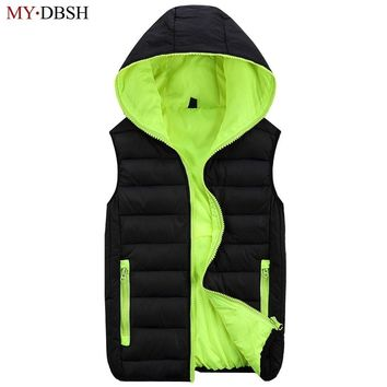 Trendy 2018 New Stylish Autumn Winter Duck Down Vest Men High Quality Hoodies Warm Sleeveless Jacket Casual  Waistcoat Free Shipping AT_94_13