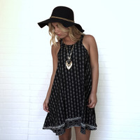 Dark Trail Shift Dress