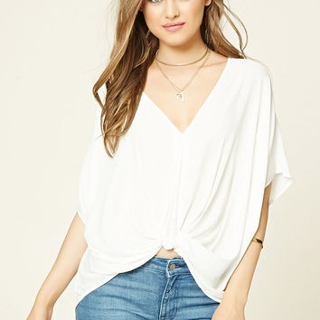 Twist-Front Batwing Top
