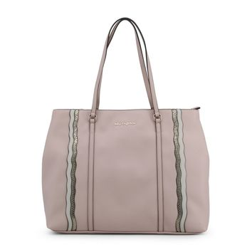 "Women's Pink Vegan Leather ""Blu Byblos LIBELPYTHON"" Tote Handbag"