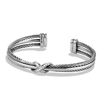David Yurman X Crossover Cuff with Diamonds