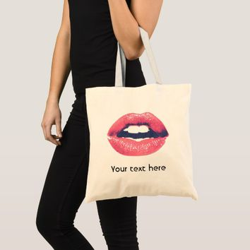 XOXO Red Lips Cotton Tote Bag