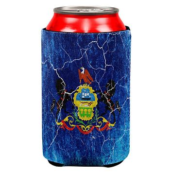 Pennsylvania Vintage Distressed State Flag All Over Can Cooler