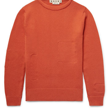 Marni - Cotton-Appliquéd Wool Sweater