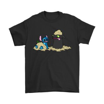 SPBEST Stitch And Night Fury Friends At The Beach Shirts
