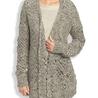 Lucky Brand Marled Stitch Sweater Womens - Natural Multi