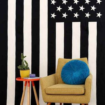 Large American Flag Tapestry