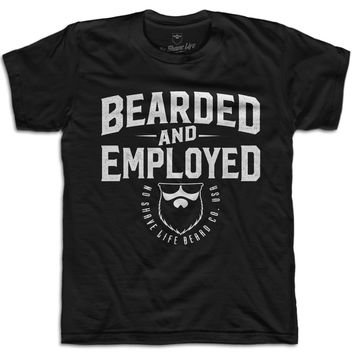 Bearded and Employed Men's T-Shirt