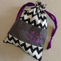 Personalized Gymnastics Grip Bag Get a Grip by ItsAllEyeCandy
