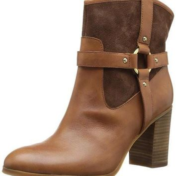 Lauren Ralph Lauren Dylan Women's Vachetta Brown/Suede Riding Boots Shoes