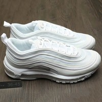 Nike Air Max 97 Women Men Running Sport Casual Shoes Sneakers White G-A0-HXYDXPF