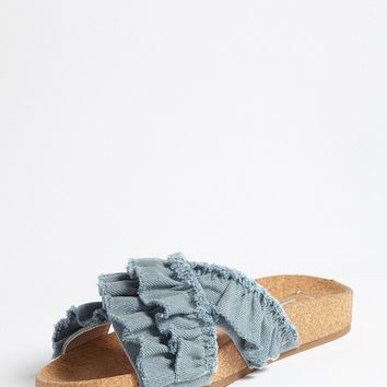 L4L by Lust for Life Ruffled Strap Sandals