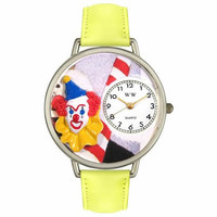 Clown Face Watch in Silver (Large)