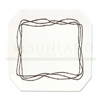 8.5 in Salad Plate - Barbed Wire