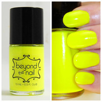 Neon Yellow Nail Polish - UV Reactive