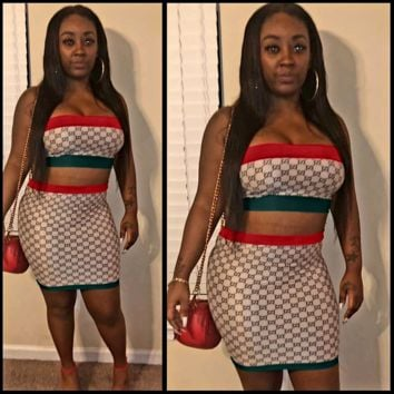 GUCCI Strapless Vest Skirt Two-Piece