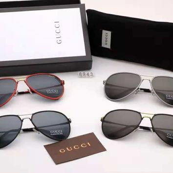 GUCCI 2018 new men's driver driving large frame polarized sunglasses