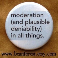 moderation and plausible deniability in all things by beanforest