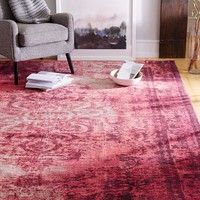 Distressed Arabesque Wool Rug - Shockwave