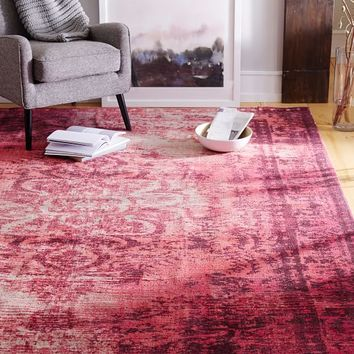Distressed Arabesque Wool Rug Shockwave From West Elm Rugs