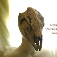 Deer Skull Mask - Hand made - custom - made to order.