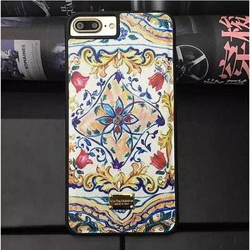 DG Leather iphone7 plus prints protective case