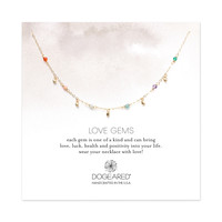 Love Gems Tiny Healing Gem Necklace, Gold Dipped| Dogeared
