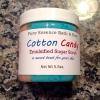 Cotton Candy Emulsified Sugar Scrub Bath and Beauty Body Polish Exfoliating PureEssenceBathnBody - 5.5oz
