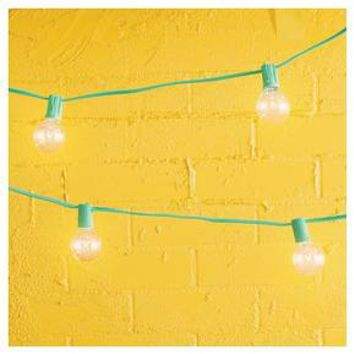 25ct Clear Globe String Lights - Turquoise String - Room Essentials™