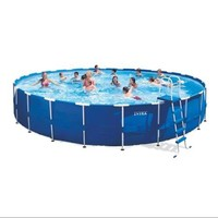 "INTEX 24' x 52"" Metal Frame Swimming Pool Set w/ 2500 GPH Filter Pump 