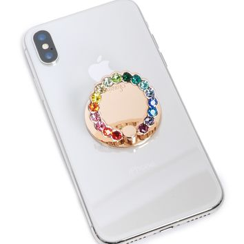 Sonix Rainbow Rhinestone Phone Ring
