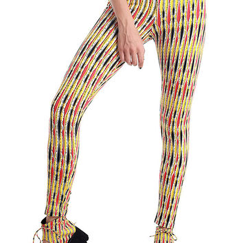 Multi Color Print Leggings - 50% OFF