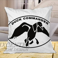 Duck Commander Duck Dinasty on Square Pillow Cover