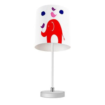 Elephant and Little Birdies Table Lamp