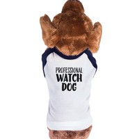 Professional Watch Dog-Unisex Navy/White T-Shirt
