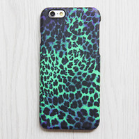Turquoise Purple Leopard Pattern iPhone 6s 6 plus Case Ethnic iPhone 5S 5 iPhone 5C iPhone 4 Case Animal Galaxy S6 edge S6 S5 S4 Case 076