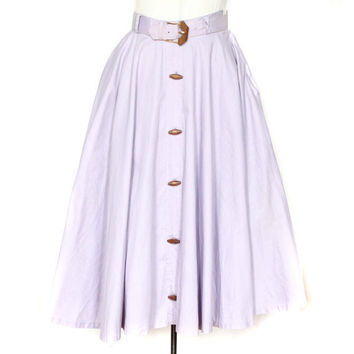 50s Circle Skirt in Light Purple with Built by persnicketyvintage