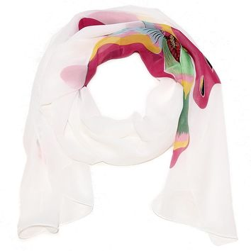 Large Butterfly Scarf - 2 Choices of Butterfly