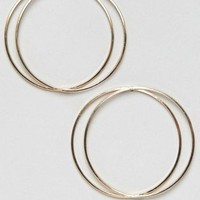 New Look Double Hoop Earrings at asos.com