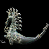 Bronze Sumatran Naga Morsarang From Batak Indonesia Mythological Creature Sea Serpent Five Riders On A Singa/Naga/Ethnographic Home Decor 6""