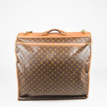 """Louis Vuitton The French Luggage Company Vintage Coated Canvas """"LV"""" Garment Bag"""