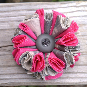 ACU with Pink Flower Accessory by HandtowelsByOlivia on Etsy