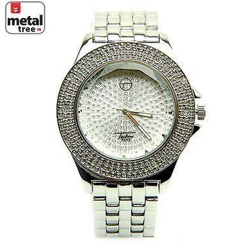 Jewelry Kay style Hip Hop Rapper Fashion Men's Stainless Steel Metal Heavy Band Watche 8002 SL