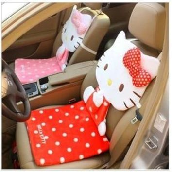 (2 Pcs/Lot) Beautiful And Soft Hello Kitty Car Chair Seat & Supports,Office Seat,Size 40*87Cm,