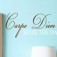 Carpe Diem Seize The Day Vinyl Wall Decal Lettering Words