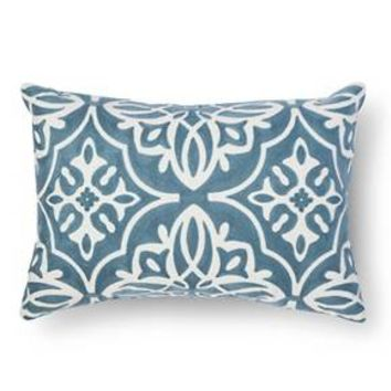 Scroll Embroidered Lumbar Throw Pillow – Threshold™