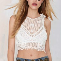 Somedays Lovin Stones Crochet Lace Top